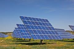 pouvoir de centrale solaire photo libre de droits