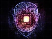 Pouvoir de cerveau illustration de vecteur