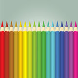 Pouvoir de fleur - crayons Photos libres de droits