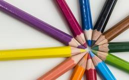 Pouvoir de fleur - crayons Images libres de droits