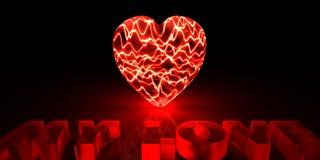 Pouvoir de l'amour Image stock