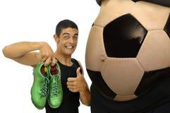 Pouvoir du football Photos stock
