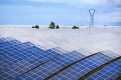 pouvoir Espagne du sud solaire de centrale de panneaux Image libre de droits