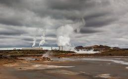 pouvoir géothermique de centrale photographie stock libre de droits