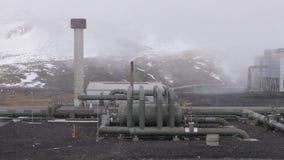 pouvoir géothermique de centrale banque de vidéos