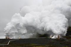 Pouvoir géothermique Reykjavik stationear, Islande Image stock