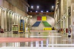 pouvoir hydro-électrique de centrale d'itaipu images stock