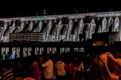 pouvoir hydro-électrique de centrale d'itaipu image stock