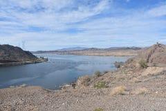 pouvoir hydro-?lectrique de parker de barrage de l'Arizona photo libre de droits
