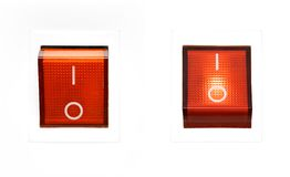 Pouvoir rouge Switch-on/OFF Photos stock