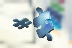 Pouzzle i skärm royaltyfri illustrationer