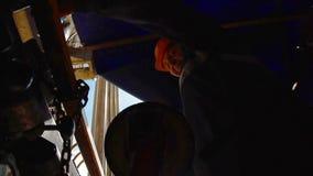 POV遥控石油钻井的船具 股票视频