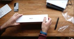 POV και πρώτη προβολή της σειράς 3 ρολογιών της Apple Στοκ εικόνα με δικαίωμα ελεύθερης χρήσης