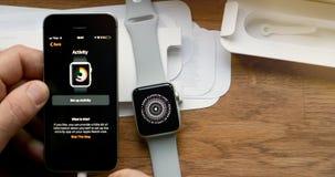 POV και πρώτη προβολή της σειράς 3 ρολογιών της Apple Στοκ φωτογραφία με δικαίωμα ελεύθερης χρήσης