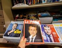 Pov περιοδικά LÃ ‰ xpress και LE Point αγοράς στοκ φωτογραφίες με δικαίωμα ελεύθερης χρήσης