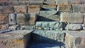 POV που αναρριχείται στο ελληνορωμαϊκό θέατρο του Κουρίου Περιοχή της Λεμεσού, Κύπρος απόθεμα βίντεο