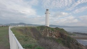 POV το μήκος σε πόδηα του φάρου Wollongong απόθεμα βίντεο