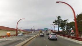 POV управляя на 101 к мосту золотого строба акции видеоматериалы