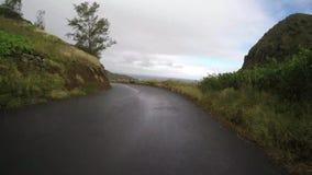 POV-auto het drijven in Maui Hawaï stock video