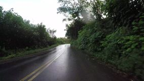 POV-auto het drijven in Maui Hawaï stock footage