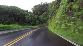 POV-auto het drijven in Maui Hawaï stock videobeelden