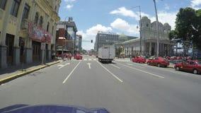 POV Avenida Środkowa ulica na Maju 6, 2015 w San Jose, Costa Rica zbiory wideo