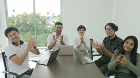 Pov of creative business team in meeting.  stock video