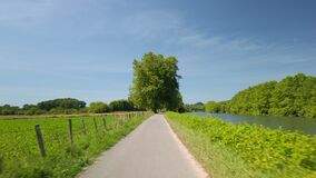 POV cycling on countryside road