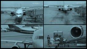 POV de una cámara de seguridad en el aeropuerto metrajes