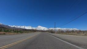 POV Drive στη κομητεία Inyo και Yosemite σε Καλιφόρνια φιλμ μικρού μήκους