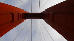 POV Driving Across the Golden Gate Bridge Daytime San Francisco stock footage