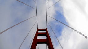 POV Driving Across the Golden Gate Bridge Daytime San Francisco stock video footage