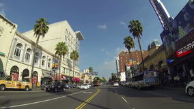 POV Driving Down Hollywood Boulevard in Los Angeles on Circa 2014 stock video