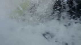 POV drowning man, tons of water, swimming accident, slowmotion. Stock footage stock video