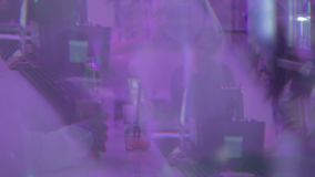 POV drunk person at the bar, blurred image people drinking stock video footage
