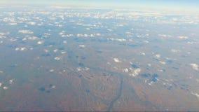 POV från flygplanfönsterflyg från Darwin Northern Territory arkivfilmer