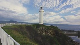 Pov-Gesamtlänge von Wollongong-Leuchtturm stock video