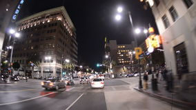 POV-het Drijven in Hollywood Californië - Tijdtijdspanne stock footage