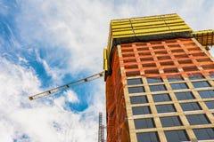 Pov-Highrisebyggnad under konstruktion Royaltyfri Fotografi