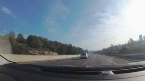 POV hyperlapse in the AP7 Highway in Catalonia, Spain. Hyperlapse fast car drive in AP7 Highway across Tarragona province, Spain stock footage