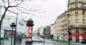 POV perdido de sensación en París metrajes