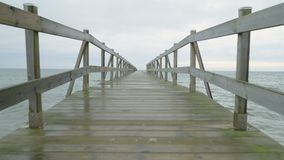POV point of view along a pier stock video