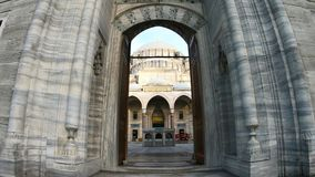 POV Point of View entering in Suleymaniye Mosque Hyperlapse in Daylight - Istanbul Turkey. 4k UHD stock video footage