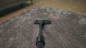 POV próżniowy czysty hoovering dywan zbiory