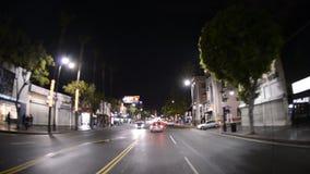 POV que conduz em Hollywood Califórnia - lapso de tempo filme