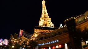 POV que conduz o casino passado de Las Vegas na noite filme