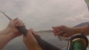 POV que pesca Califórnia video estoque