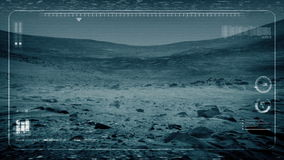 POV Rover From Alien Planet de tierra metrajes