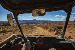 POV weg vom Roading Stockbild