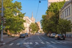 Povarskaya Street Royalty Free Stock Photography